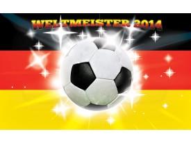 Fotobehang Papier Voetbal | Geel, Zwart | 254x184cm