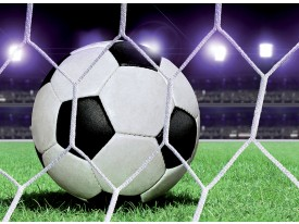 Fotobehang Voetbal | Groen, Wit | 104x70,5cm