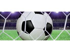 Fotobehang Voetbal | Groen, Wit | 250x104cm