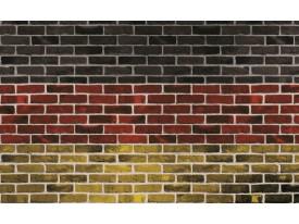 Fotobehang Stenen, Muur | Rood | 312x219cm