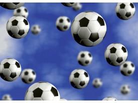 Fotobehang Voetbal | Blauw | 104x70,5cm