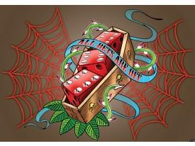 Fotobehang Papier Alchemy Gothic | Rood, Blauw | 368x254cm