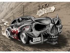 Fotobehang Alchemy Gothic, Auto | Grijs | 152,5x104cm
