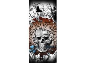 Deursticker Muursticker Alchemy, Gothic   Grijs   91x211cm