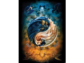 Fotobehang Papier Alchemy, Gothic | Blauw | 184x254cm