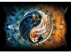 Fotobehang Alchemy Gothic | Blauw | 208x146cm