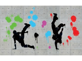 Fotobehang Street Art | Grijs | 312x219cm