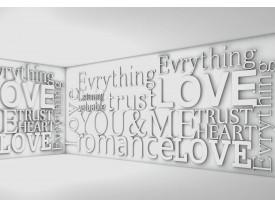 Fotobehang 3D, Tekst | Grijs | 104x70,5cm