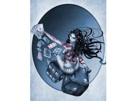 Fotobehang Alchemy, Gothic | Blauw | 206x275cm