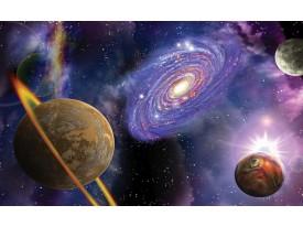 Fotobehang Universum | Blauw, Paars | 312x219cm