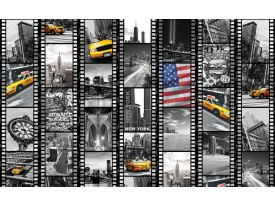 Fotobehang Papier New York | Zwart, Geel | 254x184cm