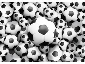Fotobehang Papier Voetbal | Zwart, Wit | 254x184cm