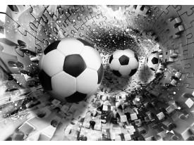 Fotobehang Voetbal | Zwart, Wit | 208x146cm