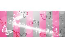 Fotobehang Abstract, Vlinder | Roze | 250x104cm