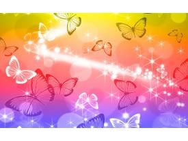 Fotobehang Vlinder | Geel, Rood | 312x219cm