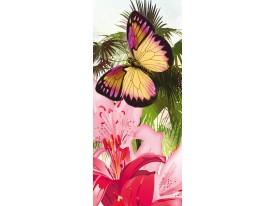 Deursticker Muursticker Natuur | Roze | 91x211cm