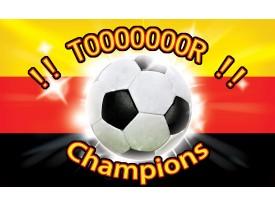 Fotobehang Voetbal | Rood, Zwart | 312x219cm
