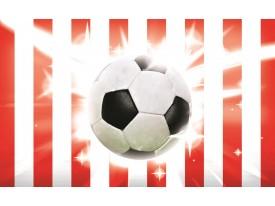 Fotobehang Voetbal | Rood, Wit | 312x219cm