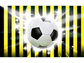 Fotobehang Voetbal | Zwart, Geel | 312x219cm