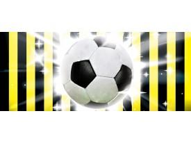 Fotobehang Voetbal | Zwart, Geel | 250x104cm