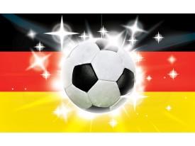 Fotobehang Voetbal | Zwart, Rood | 104x70,5cm