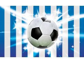 Fotobehang Voetbal | Blauw, Wit | 104x70,5cm