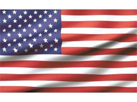 Fotobehang Vlag | Wit, Rood | 104x70,5cm