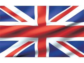 Fotobehang Vlag | Blauw, Rood | 312x219cm