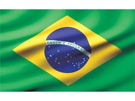 Fotobehang Papier Vlag | Groen, Geel | 254x184cm