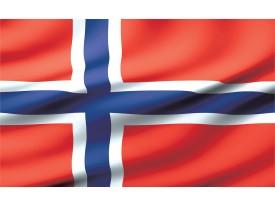 Fotobehang Vlag | Blauw, Rood | 104x70,5cm