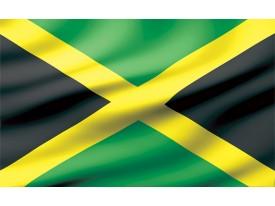 Fotobehang Papier Vlag | Zwart, Groen | 254x184cm