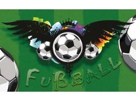Fotobehang Papier Voetbal | Groen, Zwart | 368x254cm