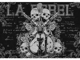 Fotobehang Papier Muziek | Zwart | 254x184cm