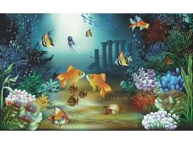 Fotobehang Zee | Groen, Blauw | 104x70,5cm