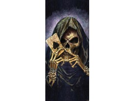 Fotobehang Alchemy Gothic | Paars | 91x211cm