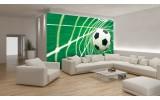 Fotobehang Vlies | Voetbal | Groen, Wit | 254x184cm