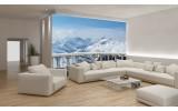 Fotobehang Vlies | Bergen | Blauw, Wit | 254x184cm