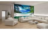 Fotobehang Vlies | Strand | Blauw, Groen | 254x184cm