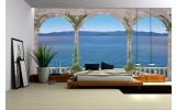 Fotobehang Vlies | Diepte, Zee | Blauw | 254x184cm