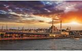 Fotobehang Vlies | Stad | Oranje | 254x184cm