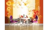 Fotobehang Vlies | Bloemen | Oranje, Geel | 254x184cm