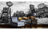 Fotobehang Vlies | New York | Zwart, Geel | 254x184cm