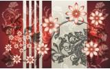 Fotobehang Vlies | Bloemen | Rood, Grijs | 254x184cm