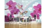 Fotobehang Vlies | Orchideeën, Bloemen | Roze | 254x184cm