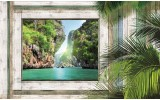Fotobehang Vlies | Natuur | Groen, Grijs | 254x184cm