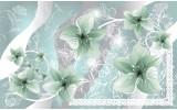 Fotobehang Vlies | Bloemen | Groen, Grijs | 254x184cm