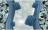 Fotobehang Vlies | Bloemen | Blauw | 254x184cm