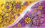 Fotobehang Vlies   Bloemen   Paars, Geel   254x184cm