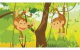 Fotobehang Vlies   Jungle   Groen, Bruin   254x184cm