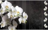 Fotobehang Vlies   Bloemen, Orchideeën   Wit   254x184cm